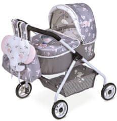 DeCuevas 86035 Moj prvi voziček za igrače dojenčke z nahrbtnikom in dodatki