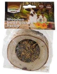 NATURE LAND Miska Nibble plněná bylinkami dřevěná 2x120 g