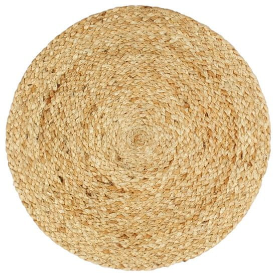 shumee Pogrinjki 4 kosi naravni 38 cm okrogli iz jute