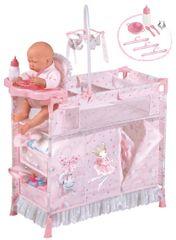 DeCuevas 53034 Skládací postýlka pro panenky s 5 funkčními doplňky Magic Maria