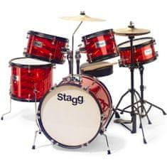 Stagg TIM JR 5/16B RD, dětská bicí sada, červená