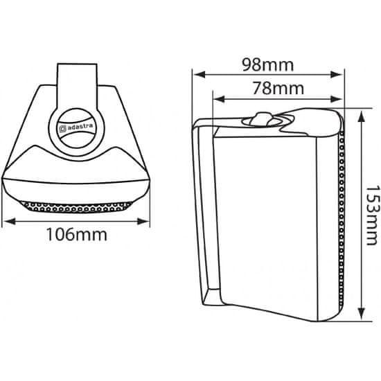 """Adastra BC3V, 100V nástěnný 3"""" reprobox, 30W, bílý"""