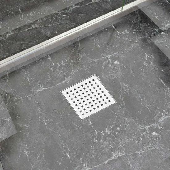 shumee Odpływ prysznicowy, 12x12 cm, stal nierdzewna