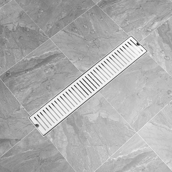 shumee Odpływ prysznicowy z otworami, 63x14 cm, stal nierdzewna