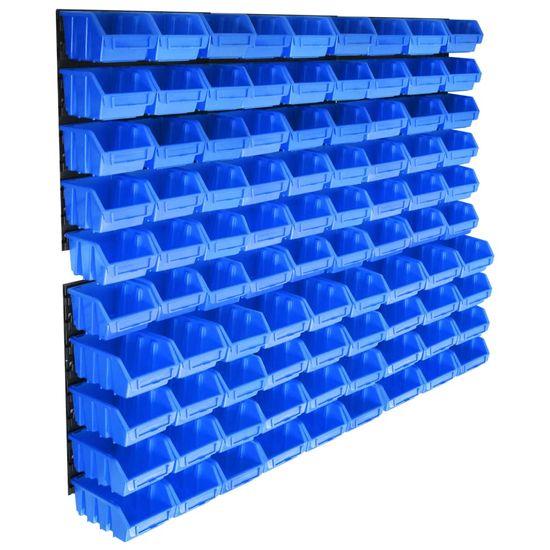 shumee 96-delni komplet zabojčkov za shranjevanje s stenskim panelom