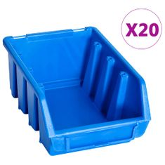 shumee Zabojčki za shranjevanje 20 kosov modra plastika