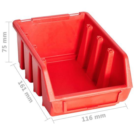 shumee 29 darabos piros és fekete tárolódoboz-készlet fali panelekkel