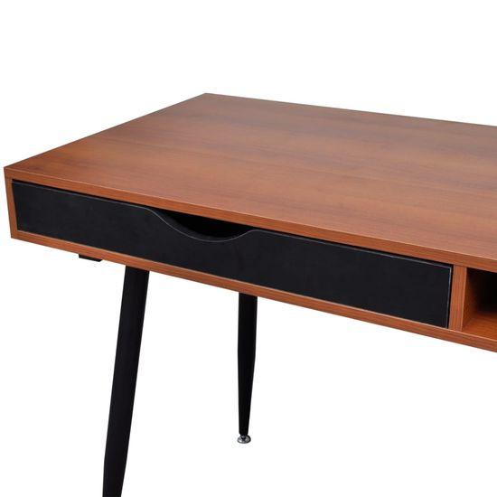 shumee Rjava pisalna / računalniška miza za prenosni računalnik