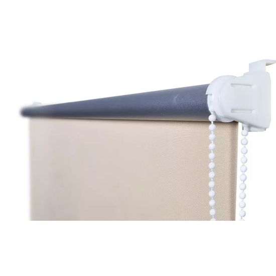 shumee Roleta okienna zaciemniająca ciemna biel 160 x 175 cm