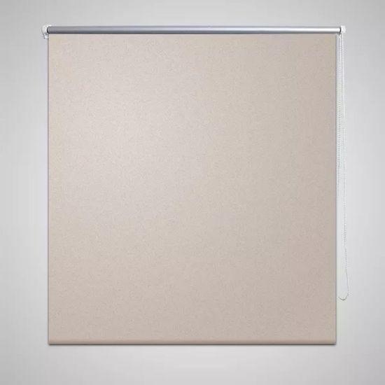 shumee Roleta okienna zaciemniająca beżowa 140 x 175 cm