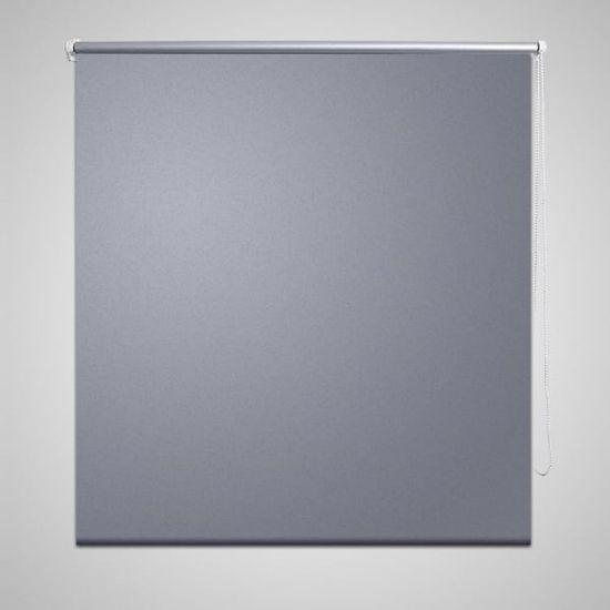 shumee Roleta okienna zaciemniająca szara 160 x 230 cm