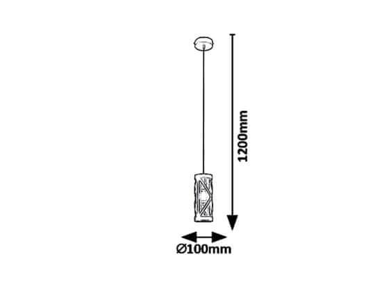 Rabalux Oberon 7338 viseča svetilka