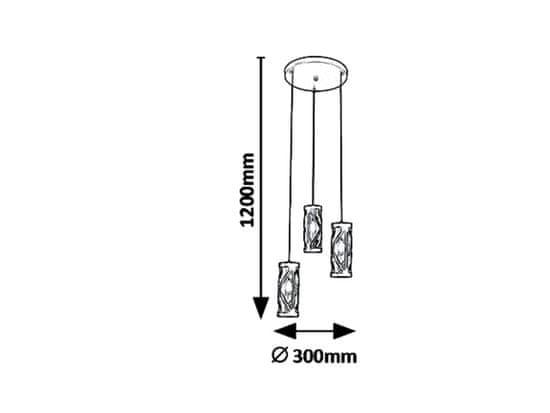 Rabalux Oberon 7339 viseća svjetiljka