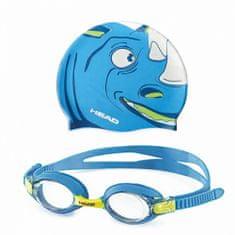 Head Sada METEOR detská - okuliare + čapica, rhino