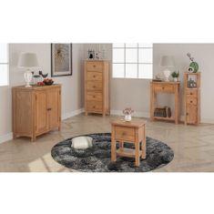 shumee 5ks set nábytku do obývacího pokoje, masivní dub