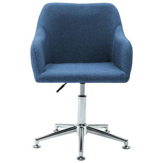 shumee Vrtljivi jedilni stoli 2 kosa modro blago