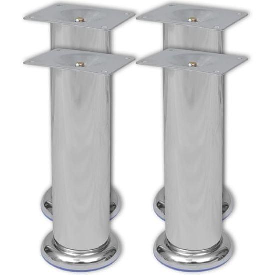 shumee Okrogle noge za kavč 8 kosov krom 180 mm