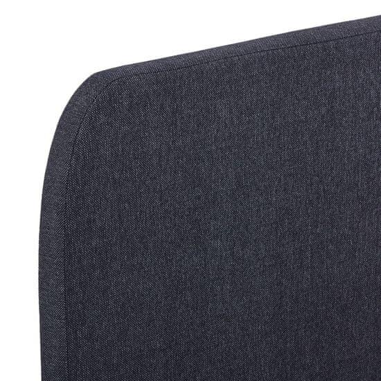 Greatstore Rám postele tmavosivý 120x200 cm látkový