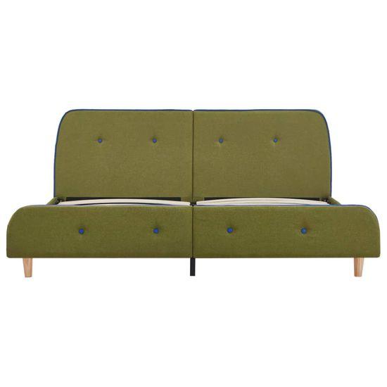 shumee Posteljni okvir zeleno blago 160x200 cm