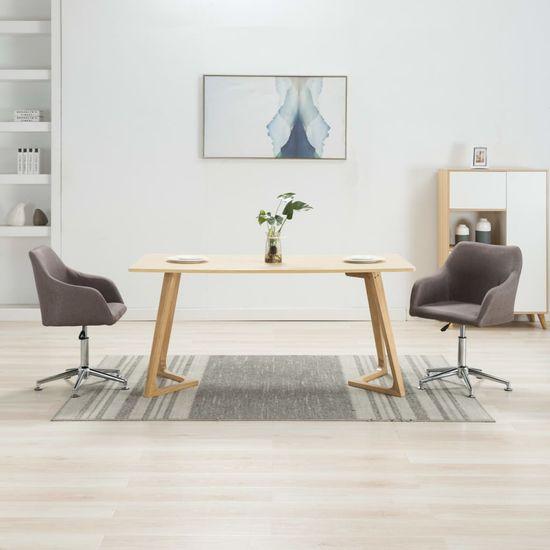 shumee Otočné jedálenské stoličky 2 ks, sivohnedé, látka
