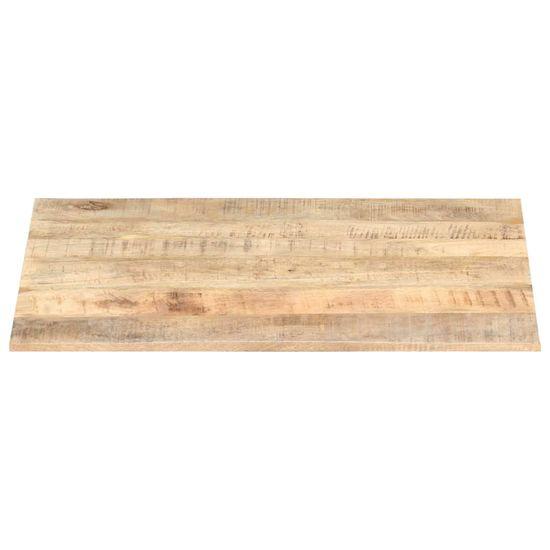 shumee Blat stołu, lite drewno mango, 15-16 mm, 90x70 cm