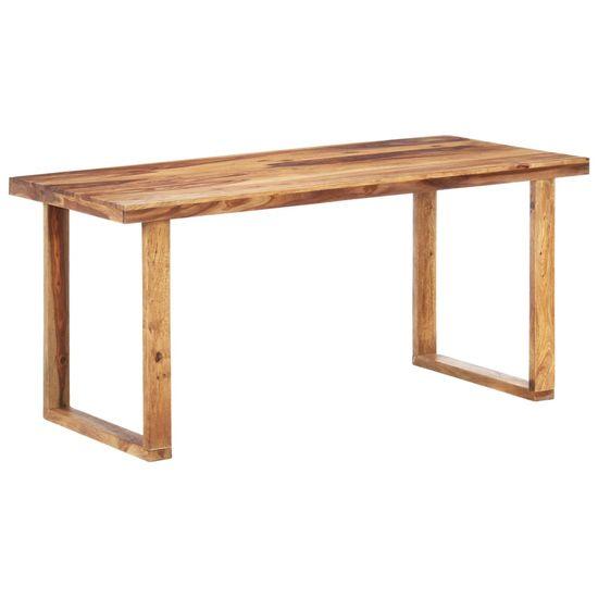 Greatstore Jedálenský stôl 160x80x76 cm, drevený masív sheesham