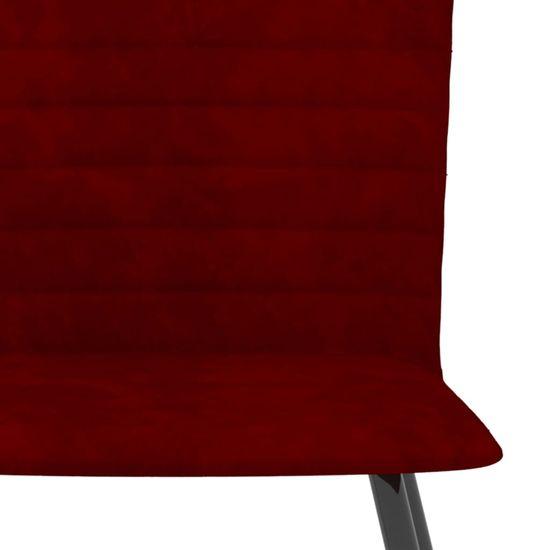 shumee Jedilni stoli 6 kosov vinsko rdeč žamet