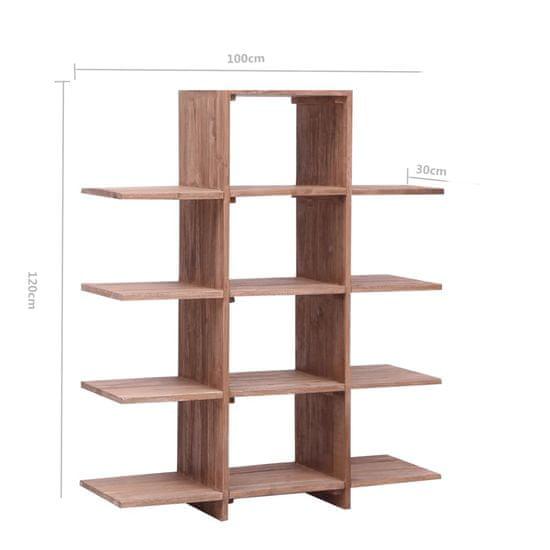 shumee Regał na książki, 100x30x120 cm, lite drewno tekowe