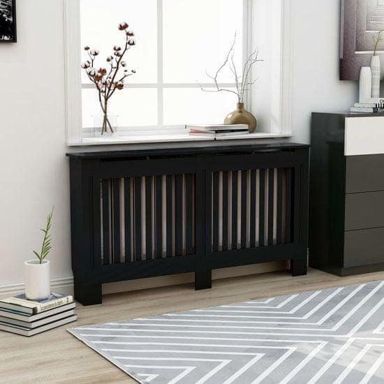 shumee fekete MDF radiátorburkolat 152 x 19 x 81 cm