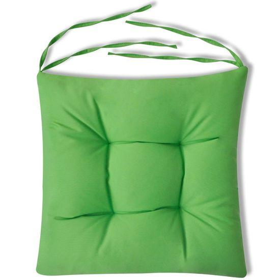 shumee Blazine za stole 4 kosi 40x40x8 cm zelene