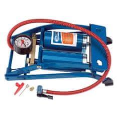 shumee Draper Tools Nožná pumpa s dvomi valcami modrá 25996