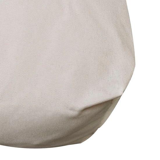 shumee Peščeno bela oblazinjena blazina za sedež 120 x 80 x 10 cm