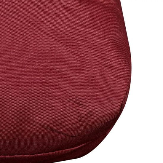 shumee Poduszka do siedzenia 120 x 80 x 10 cm kolor czerwonego wina