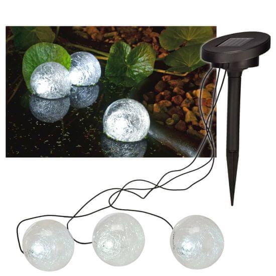 HI Solární plovoucí LED světlo do jezírka 9 cm