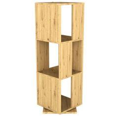 Petromila FMD Otočná kancelářská skříň otevřená 34 x 34 x 107 cm dub s patinou