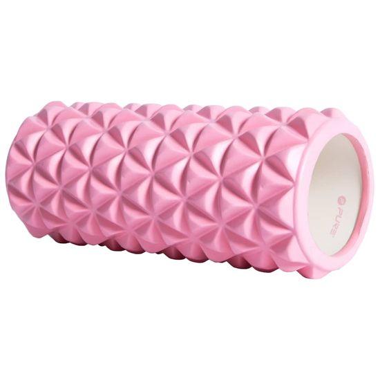 shumee Pure2Improve joga valjček 33 x 14 cm roza / bel