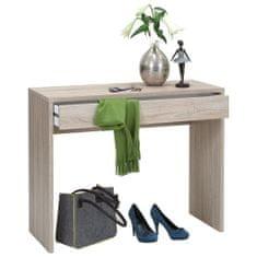shumee FMD Psací stůl se širokou zásuvkou 100 x 40 x 80 cm dubový odstín