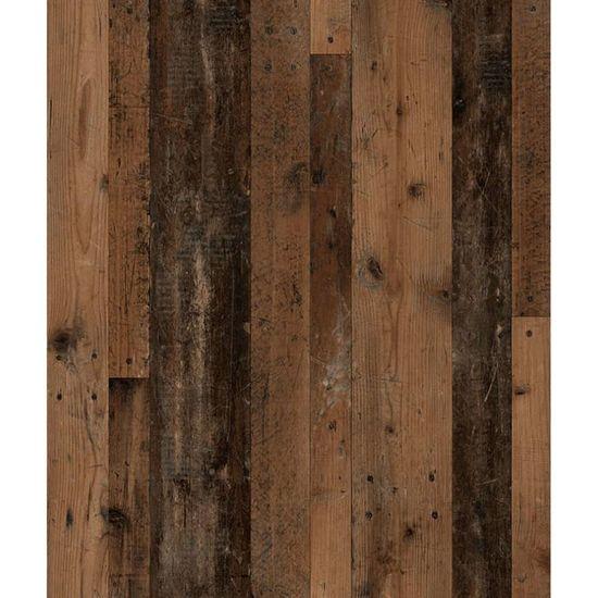 shumee FMD Szafka łazienkowa z lustrem, matera i postarzane ciemne drewno