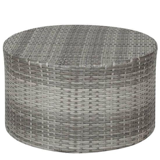 shumee Zunanja sedežna garnitura z blazinami 4-delna poli ratan siva