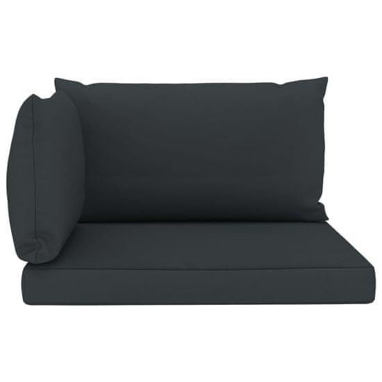 shumee Blazine za kavč iz palet 3 kosi antracitno blago