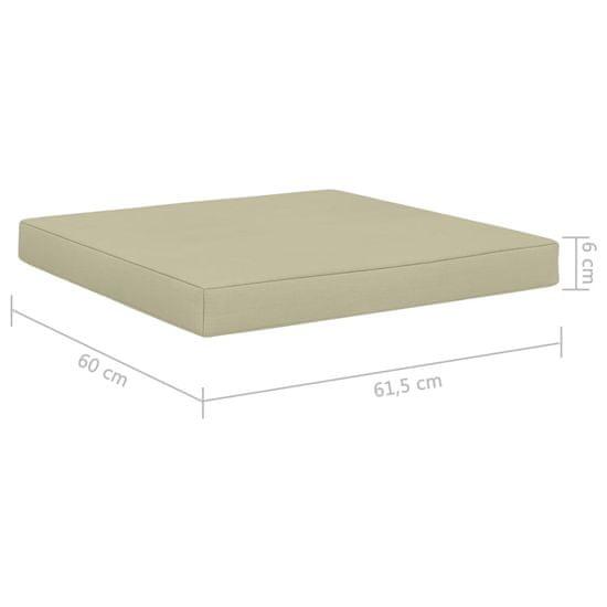 shumee Poduszka na podłogę lub palety, 60x61,5x6 cm, kremowa, tkanina