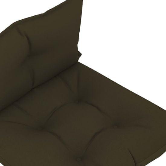 shumee Blazine za kavč iz palet 2 kosa taupe blago