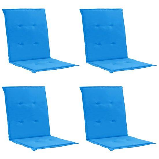 shumee Blazine za vrtne stole 4 kosi modre 100x50x3 cm