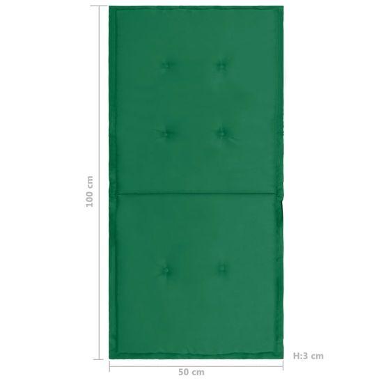 shumee 4 db zöld kerti székpárna 100 x 50 x 4 cm