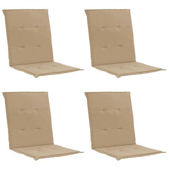 shumee Blazine za vrtne stole 4 kosi bež 100x50x3 cm