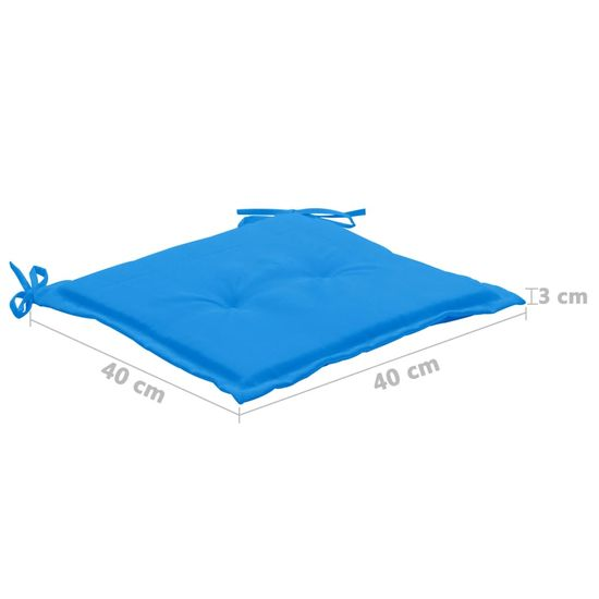 shumee Blazine za vrtne stole 4 kosi modre 40x40x3 cm