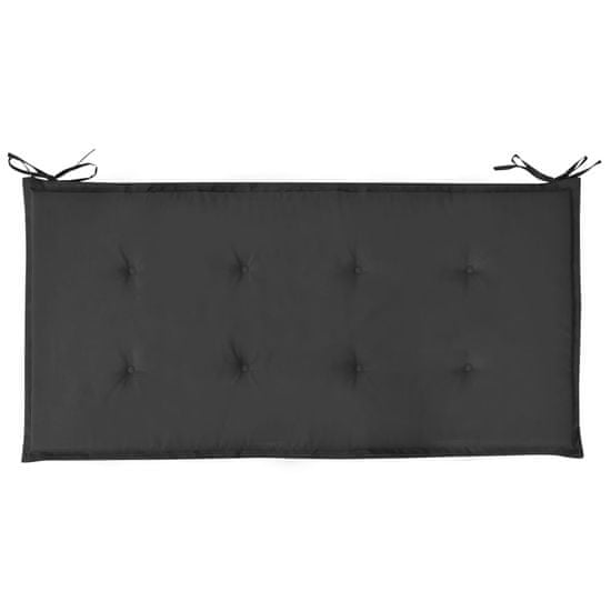 shumee fekete kerti padpárna 100 x 50 x 4 cm