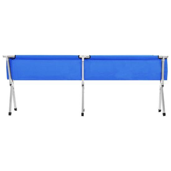 shumee Kamp postelja 210x80x48 cm XXL modra