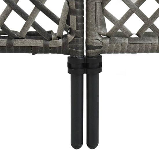 shumee Panel ogrodzeniowy z polirattanu, 3,6 x 2 m, antracytowy