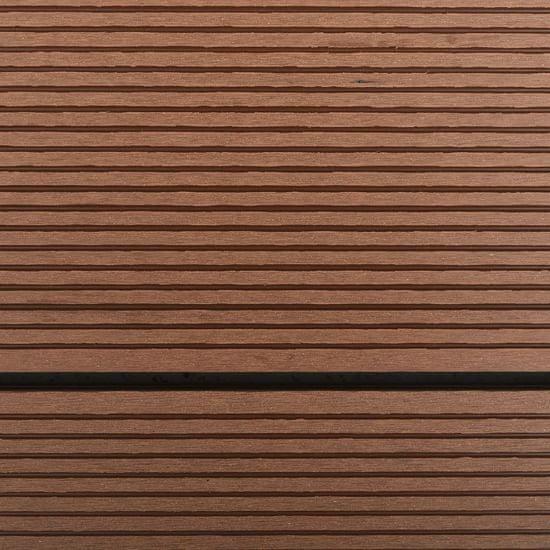 shumee Podstavek za zunanji tuš WPC nerjaveče jeklo 110x62 cm rjav